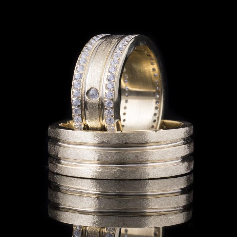 Комплект брачни халки модел R105