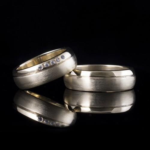 Комплект брачни халки модел R111