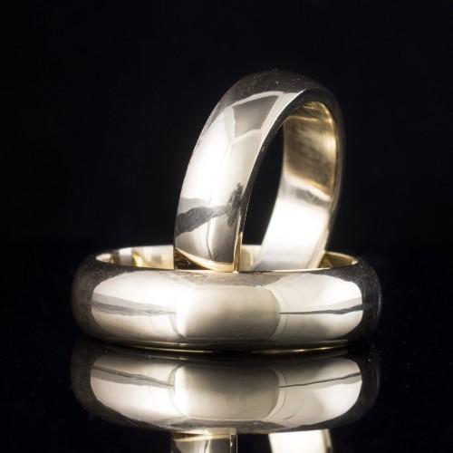Комплект брачни халки с диаманти модел R116