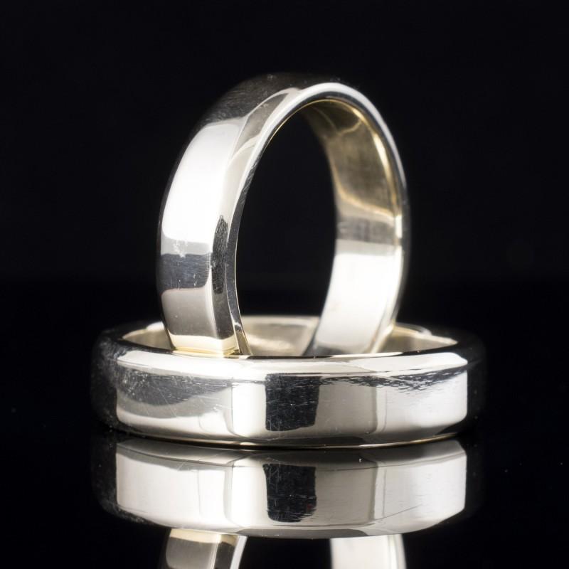Комплект брачни халки с диаманти модел R120