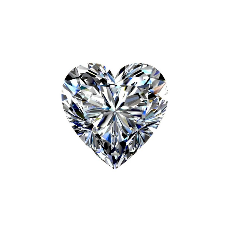 1.51 carat, HEART Cut, color H, Diamond