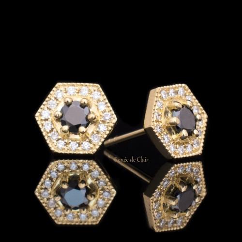 Обеци 18К жълто злато, 32 диаманта с тегло 0.36ct.