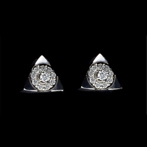 "Earrings ""Firestorm"", 18K white gold, 20 diamonds with a weight of 0.245ct."
