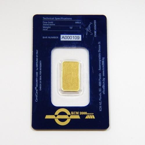 Златно кюлче 5 грамa