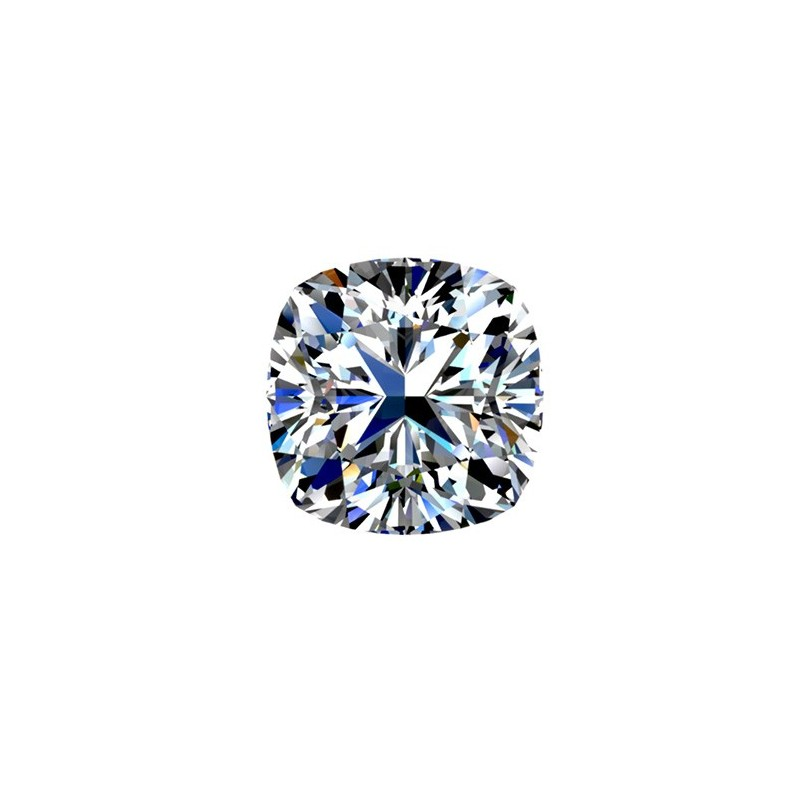 1 carat, CUSHION Cut, color E, Diamond