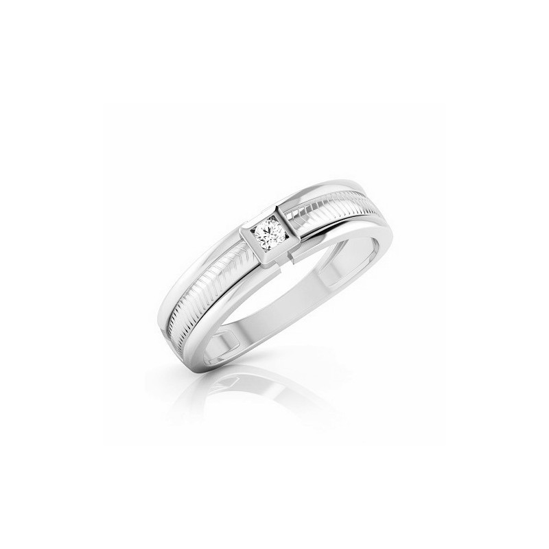 Ring for him, made from 14K gold and 1 diamond 0.10 ct