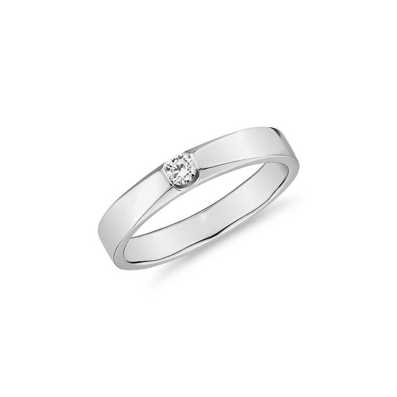 Ring for him, made from 14K gold and 1 diamond 0.062 ct