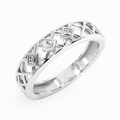 Мъжки пръстен 14К злато с 3 диаманта 0.075 ct