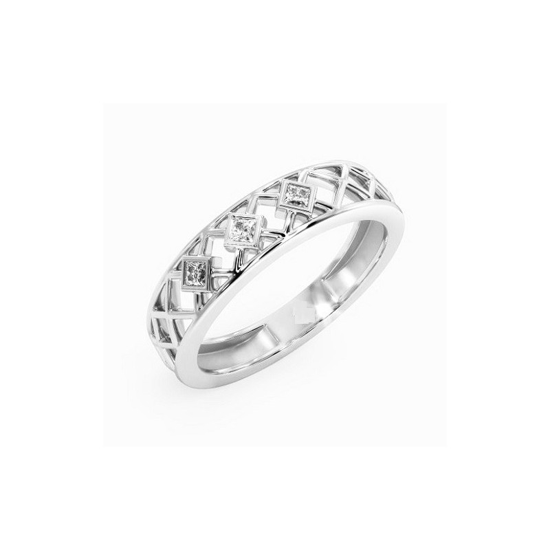 Ring for him, made from 14K gold and 3 diamonds 0.075 ct