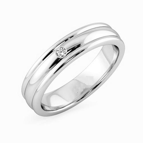 Мъжки пръстен 14К злато с 1 диамант 0.02 ct