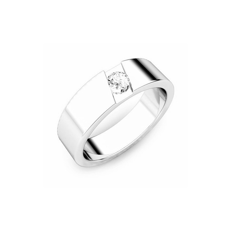 Ring for him, made from 14K gold and 1 diamond 0.11 ct