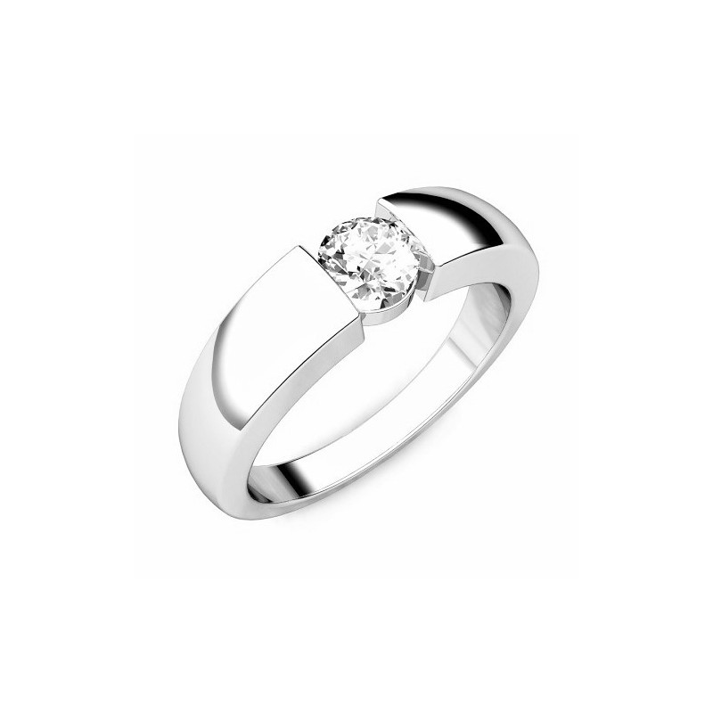 Ring for him, made from 14K gold and 1 diamond 0,25 ct