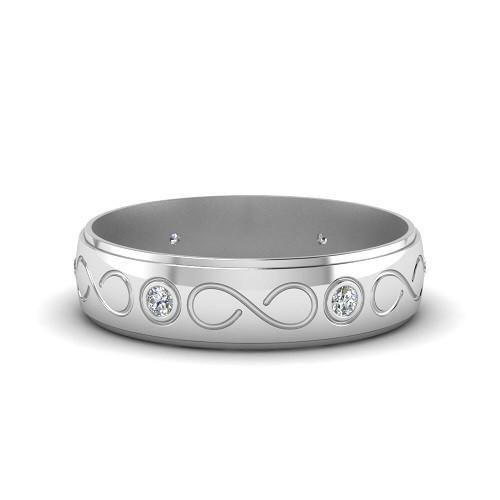 Мъжки пръстен 14К злато с 6 диаманта 0.12 ct