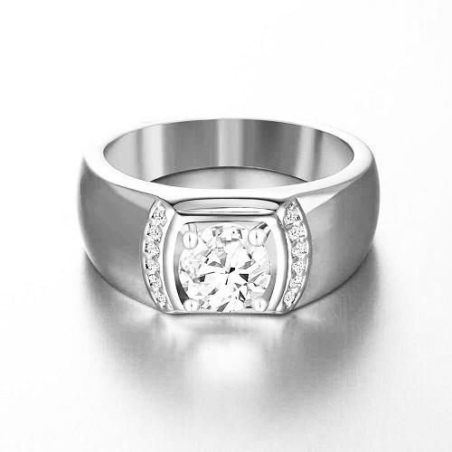 Мъжки пръстен 14К злато с 13 диамнта 0,32 ct