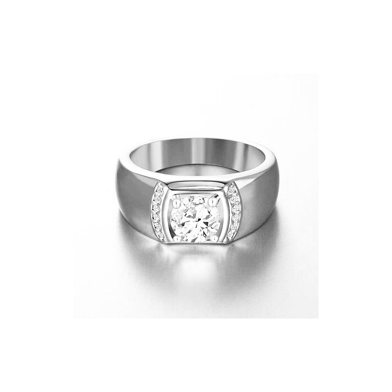 Rng for him, made from 14K gold and 13 diamonds 0,32 ct