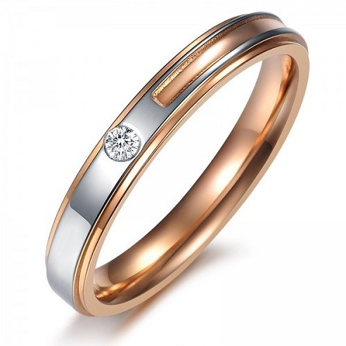 Ring for him, made from 14K gold and 1 diamond 0.035 ct