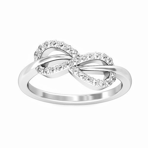 "Ring ""Infinity"", made from 14K WG and 25 diamonds 0.15 ct"