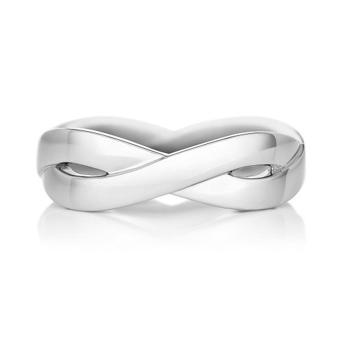"Ring ""Infinity"" for him, made from 14K white gold"