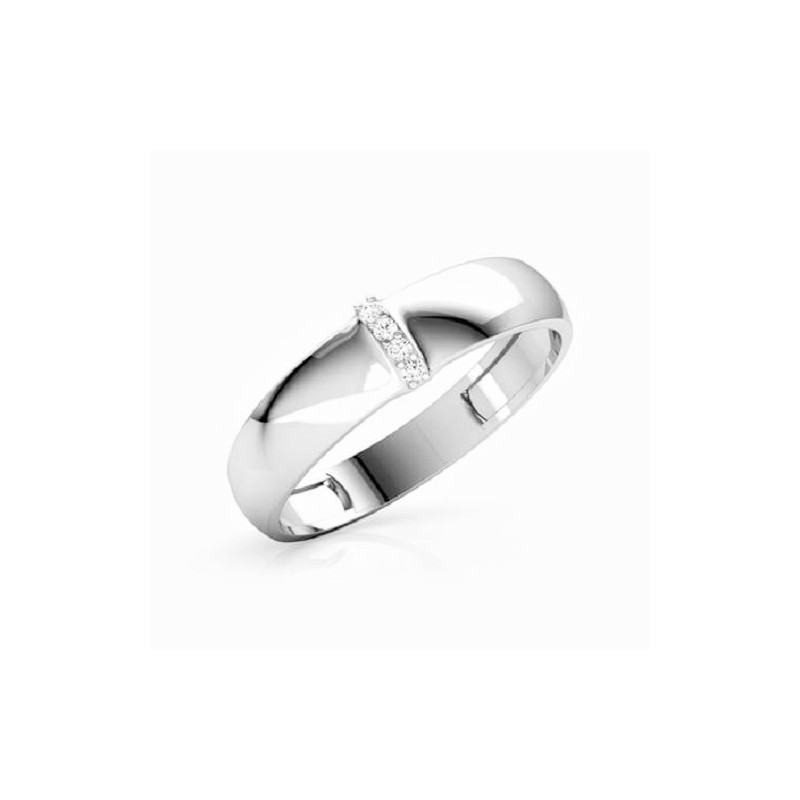 Ring for him, made from 14K gold and 5 diamonds 0.048 ct