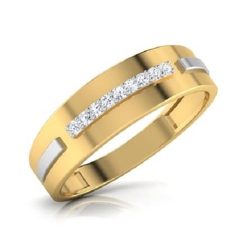 Мъжки пръстен 14К злато с 8 диаманта 0.12 ct