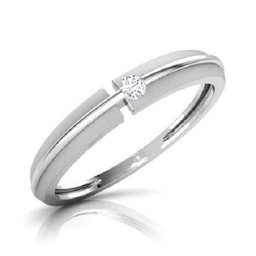 Мъжки пръстен 14К злато с 1 диамант 0.035 ct