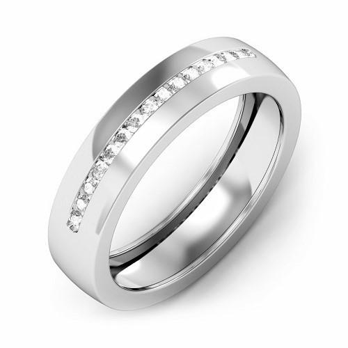 Мъжки пръстен 14К злато с 15 диаманта 0.23 ct