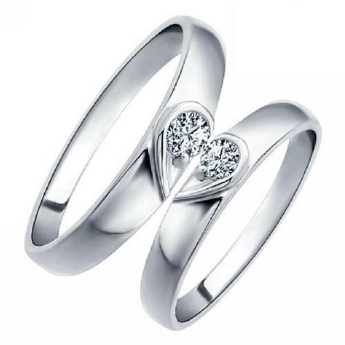 Комплект от два мъжки пръстена 14К злато с 2 диаманта 0.12 ct