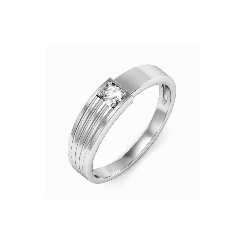 Ring for him, made from 14K gold and 1 diamond 0.08 ct