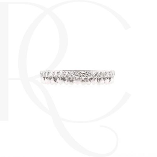 Брачна халка 14К злато и диаманти с общо тегло 0.35ct.