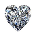 0.81 carat, HEART Cut, color F, Diamond