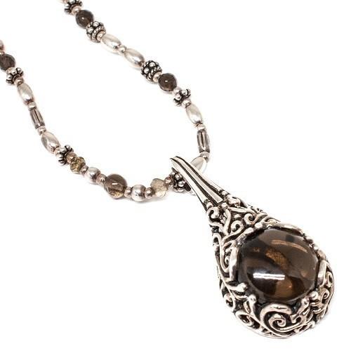 "Silver necklace ""Undine"""