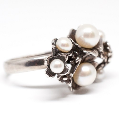 "Silver ring ""Bloom"""