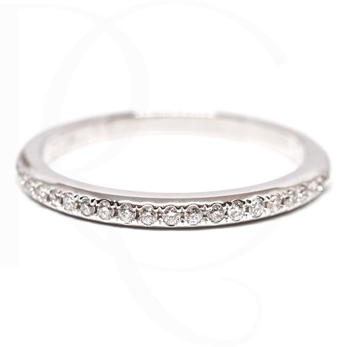 Wedding Ring 14K White Gold with diamonds 0,11ct
