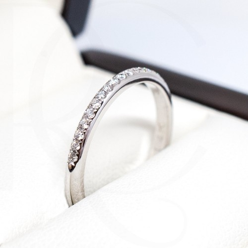 Ring 14K White Gold with diamonds 0,11ct