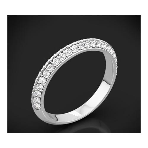 """Диамантена брачна халка от колекцията """"Звездно небе"""", изработена от 18к злато, с широчина 3,0 мм и 70 диаманта с общо тегло 0,70"""