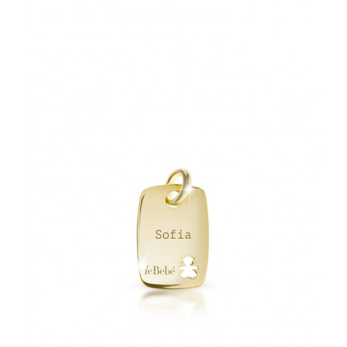Daddy pendant plate in Yellow Gold 9K