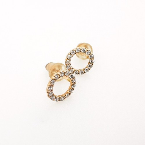 Обеци, 14K розово злато и 28 диаманта с тегло 0.19ct