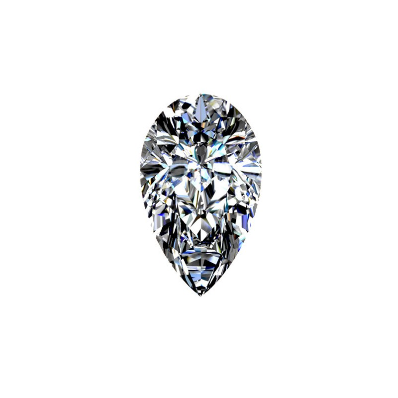 0.96 carat, PEAR Cut, color D, Diamond