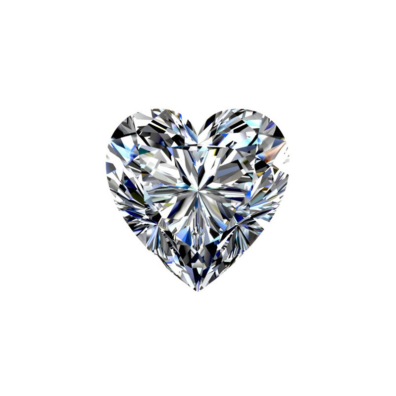 0.5 carat, HEART Cut, color J, Diamond