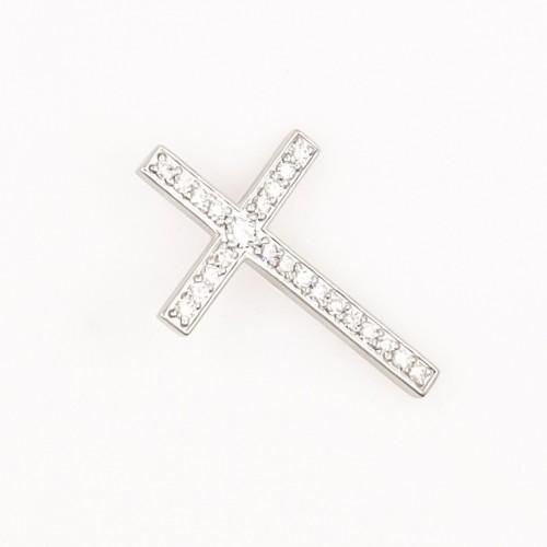 Колие Кръст 18K злато с диаманти 1.10ct.