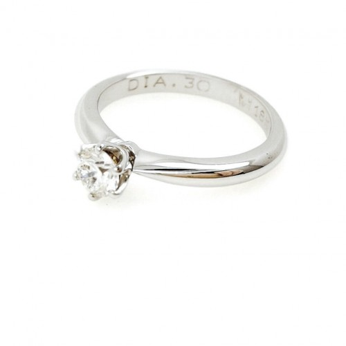 Engagement ring 18K gold with diamond 0.26ct.