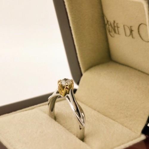 Годежен пръстен 18К злато с диамант с тегло 0.31ct