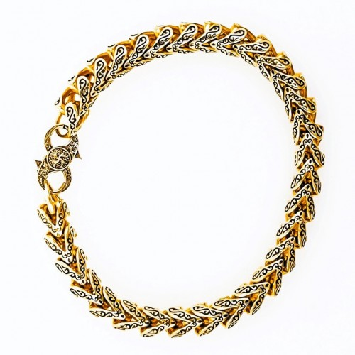 Golden bracelet for him 14K yellow gold
