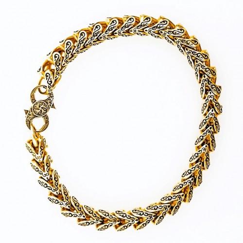 Golden bracelet for him 14K yellow gold
