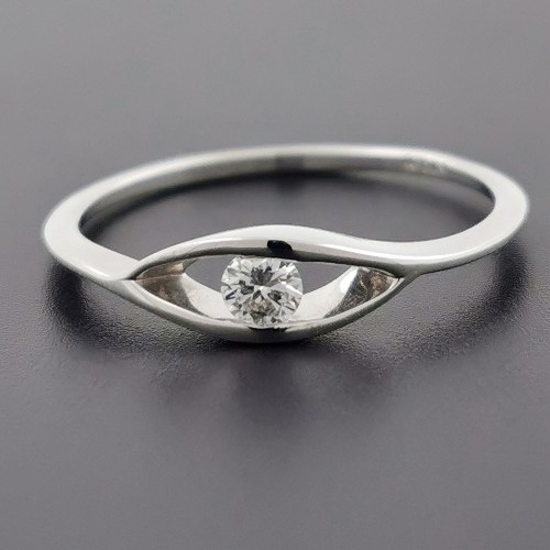 Ring 14K gold with diamond 0.10ct