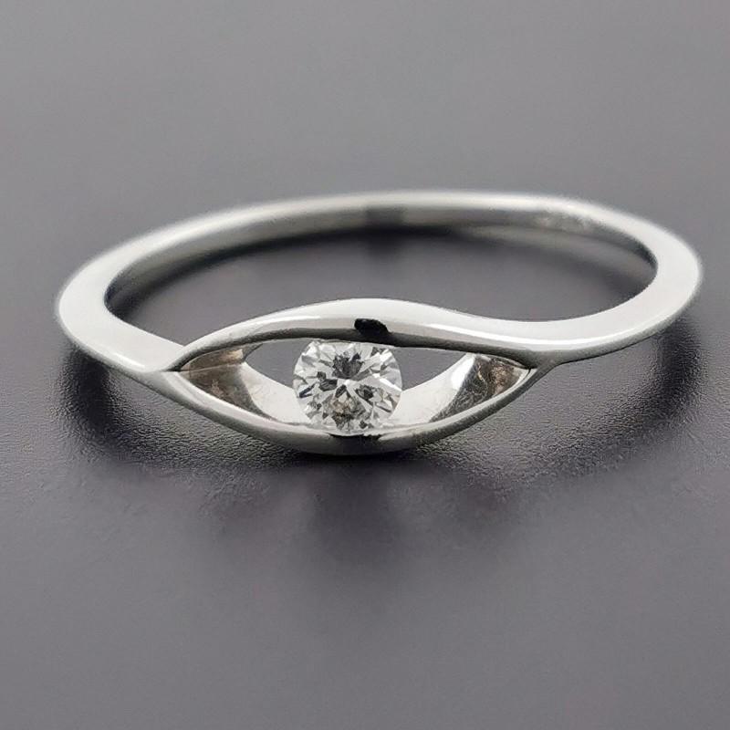 Пръстен 14К злато и 1 диамант 0.10ct.