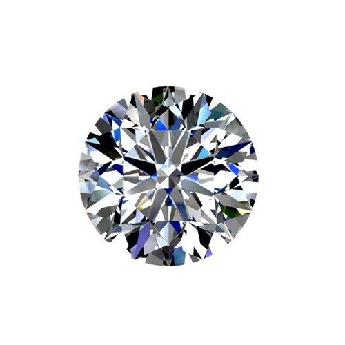 0.53 carat, Round cut, color H, Diamond