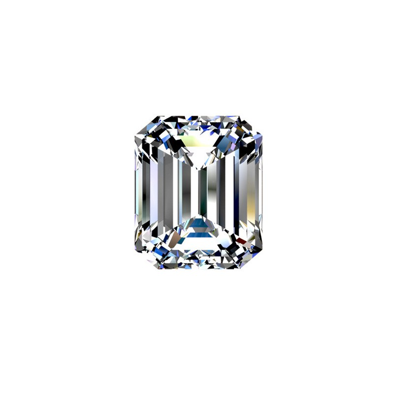 2.01 carat, Emerald cut, color H, Diamond