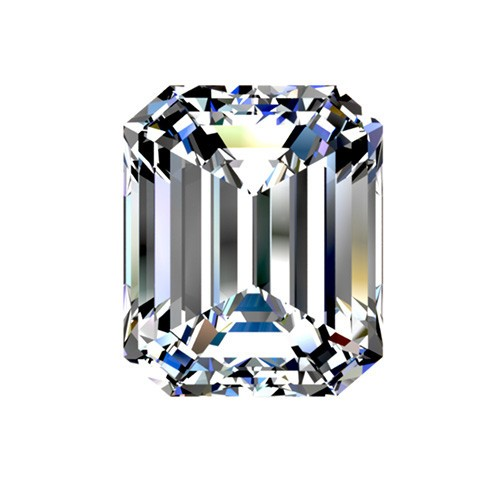 1.9 carat, Emerald cut, color H, Diamond