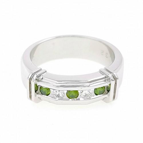 Мъжки пръстен 14К злато с 5 диаманта